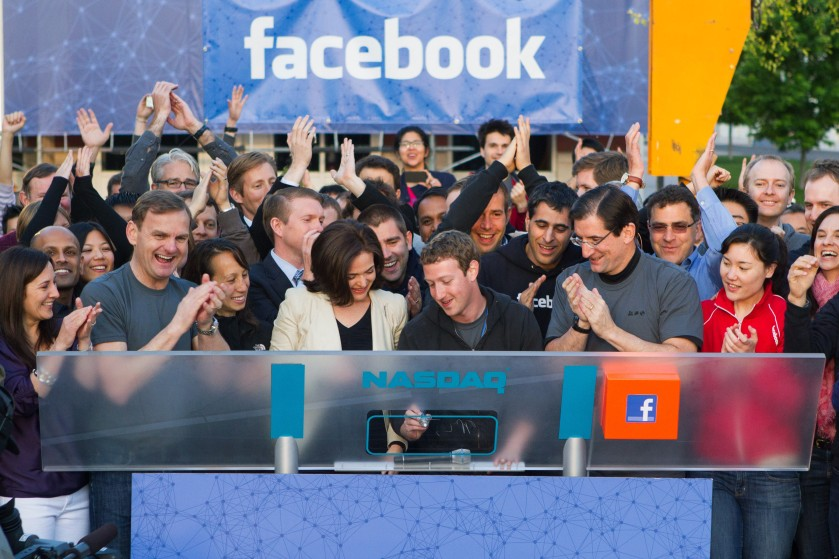 Facebook CEO, Mark Zuckerberg signs IPO